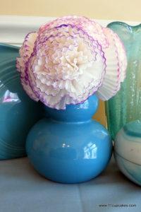 Easter Cupcake Liner Flower Tutorial