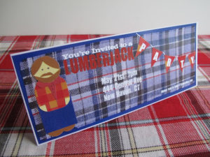 Lumberjack Party Invitations