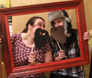Easy DIY Lumberjack photo booth