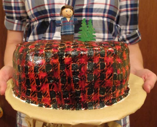Lumberjack Party Cake