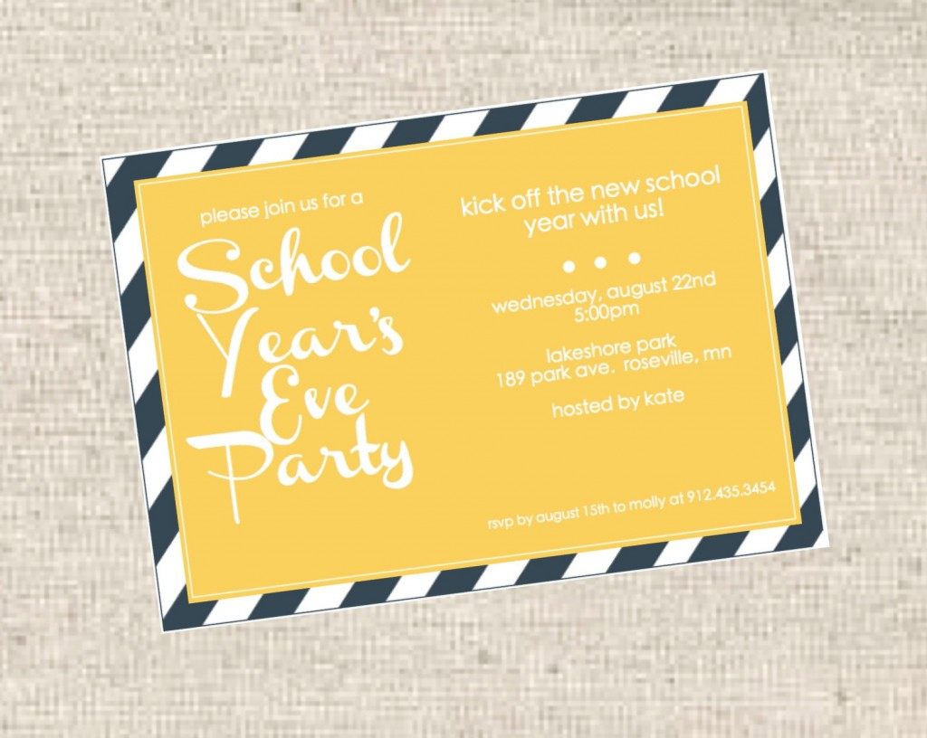 School Year's Eve Party Invitations