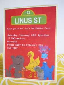 Sesame Street Party Invitation