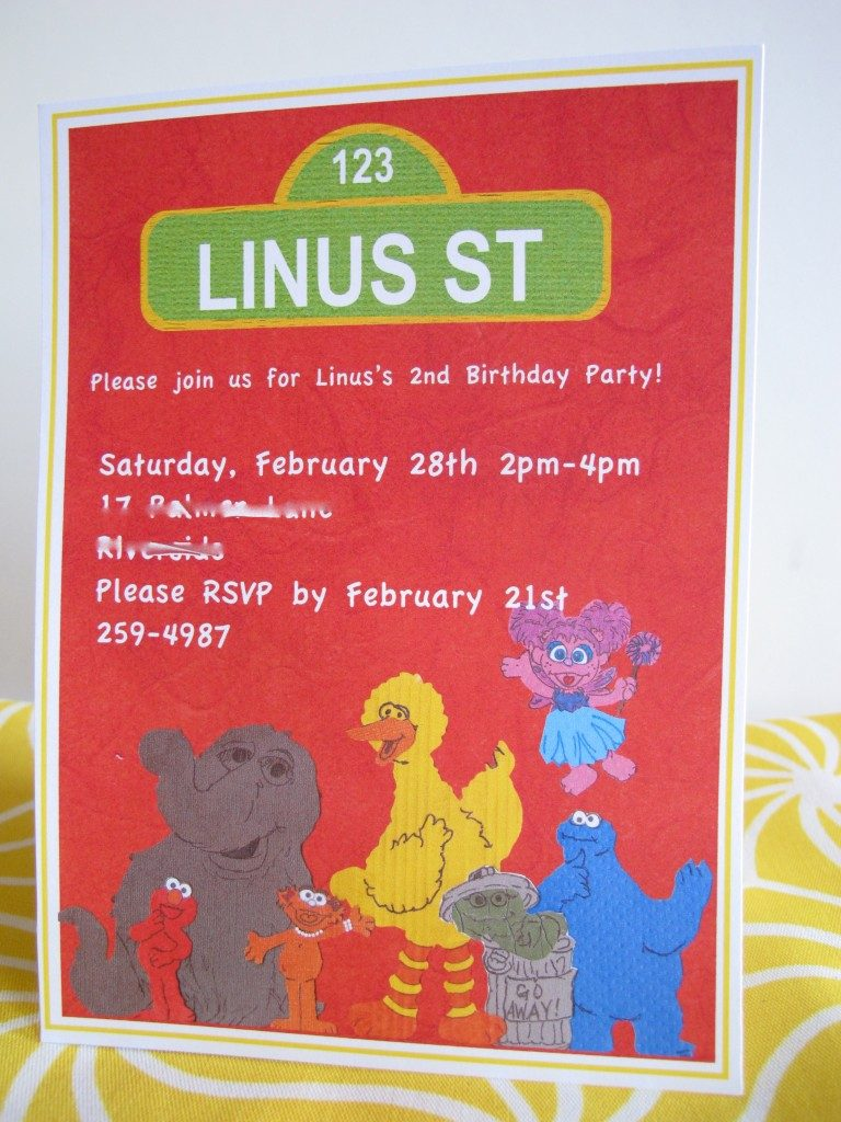 Sesame Street Party Guide: Invitations & Thank You's