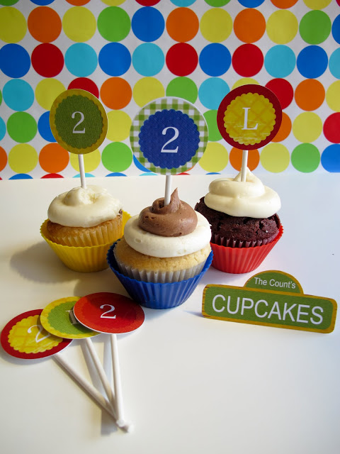 Sesame Street Party Guide: Cupcakes