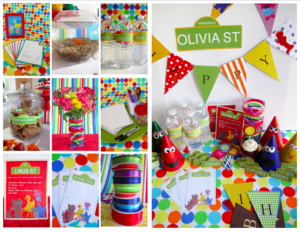This brightly colored Sesame Street inspired party guide is perfect for your child's Sesame Street birthday party. We have had lots of fun coming up with everything you need to re-create this party for yourself.