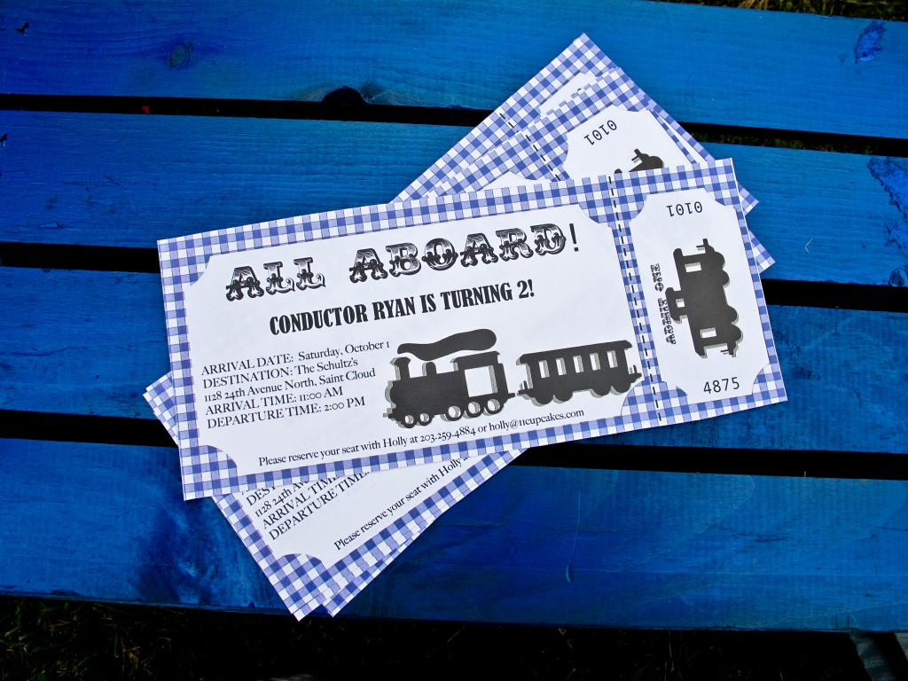 Train Party Invitations