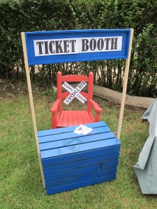 Train Party Ticket Booth