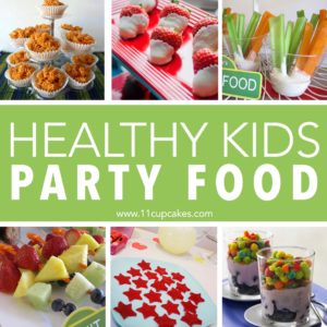 Healthy Kids Party Food | Just because you are throwing a kids birthday party doesn't mean you need to serve pizza, juice boxes and cupcakes with icecream. We've gathered up some of our favorite party food options from past parties to give you ideas for healthier, kid friendly food that will please both adults and party goers.