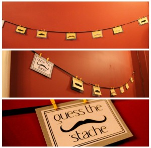 Mustache Bash: Decorations