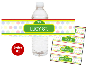 {Sesame Street Party} Bottle Labels