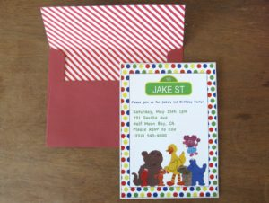 DIY Sesame Street Party Invitations