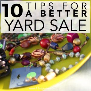 Here are some of my favorite tips and tricks from hosting yards sales and garage sales that save time and make more money.