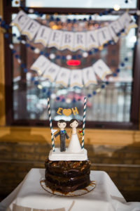 Minneapolis real wedding reception food, Day Block Event Center, Mini Wedding Table Cakes, Cafe Latte Bakery