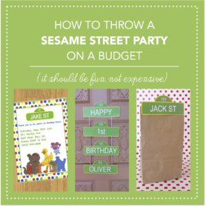 How to throw a Sesame Street Party on a budget with invitations, food, decorations, and games