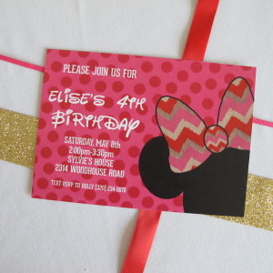 Minnie Mouse Party: Invitations