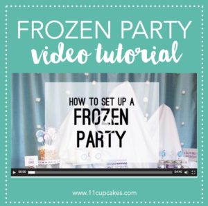 Frozen Winter Wonderland Video Tutorial | Did you see the Elsa's Ice Castle Snow Mountain that we created for this Disney Frozen Birthday Party and wonder how you could re-create it for your upcoming party? Wonder no more! We are excited to share this video tutorial...
