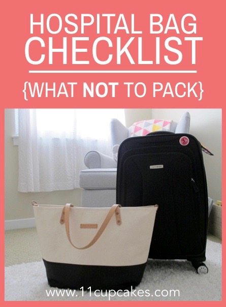 What Not to Pack in your Hospital Bag via 11cupcakes free checklist download