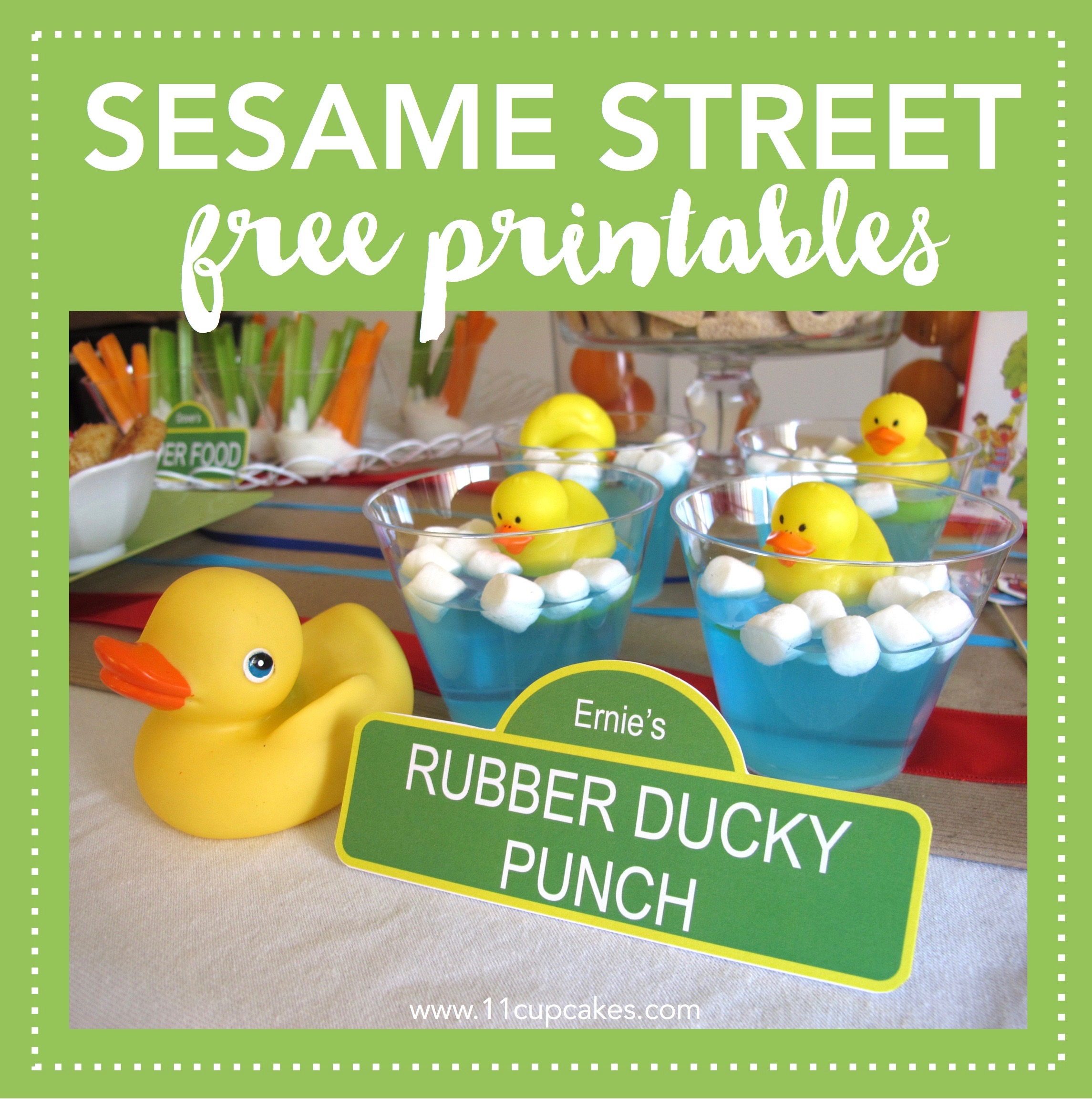 Free Sesame Street Party Labels