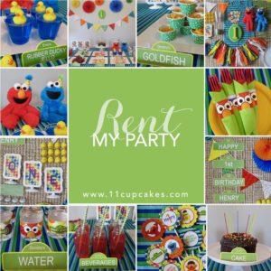 Sesame Street Rent My Party