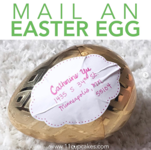 Did you know you can MAIL SOMEONE AN EASTER EGG? Grab a plastic easter egg and some candy and make someone's day! #11cupcakes #DIY #eastergames #DIYeaster #eastermail #eastercrafts #targetfun