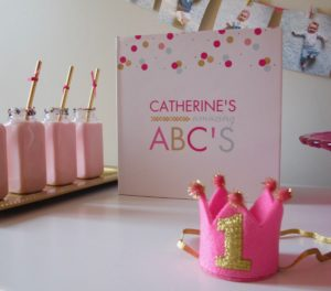 Personalized alphabet book, one year old ABC book