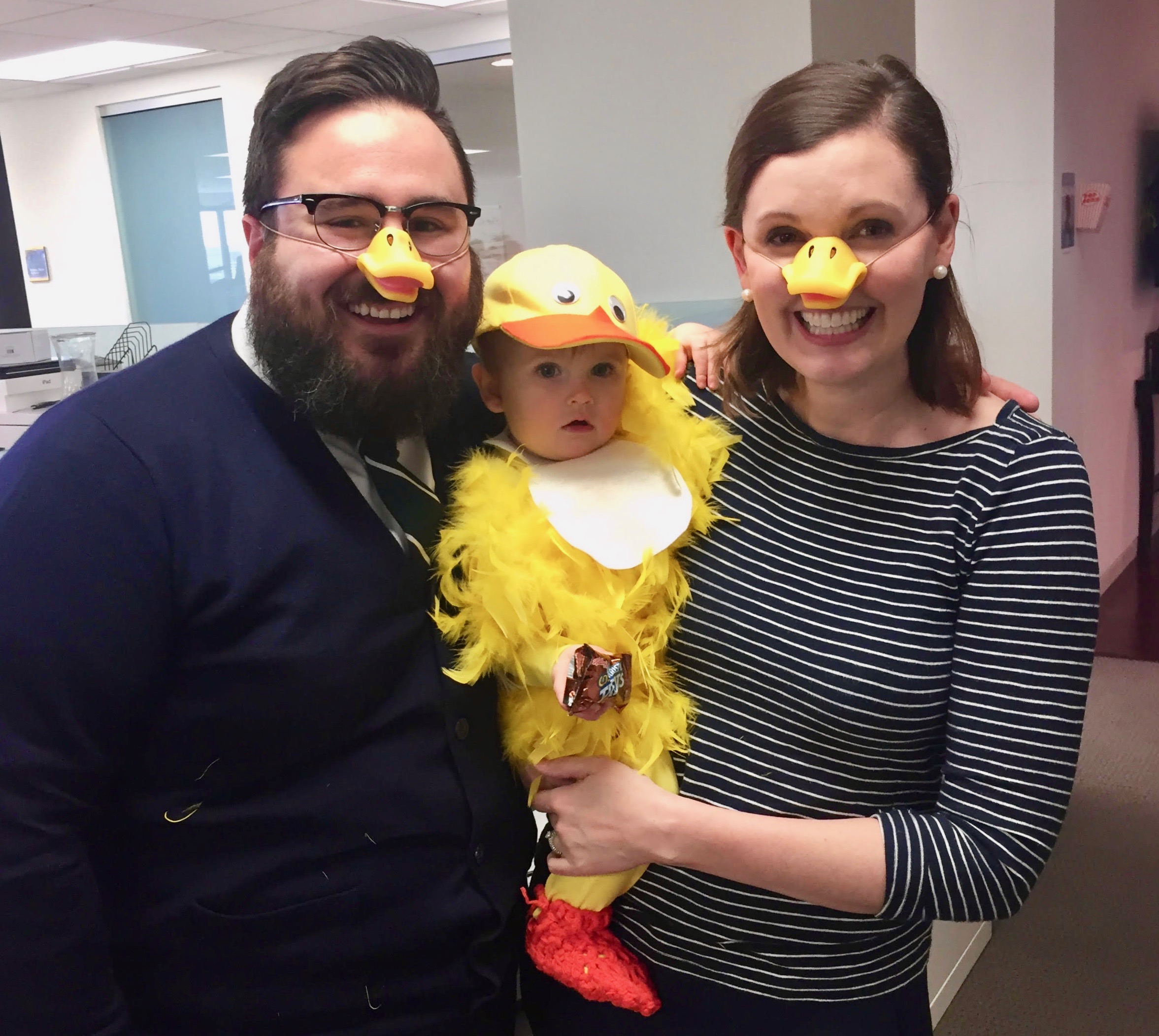 DIY little duck halloween costume