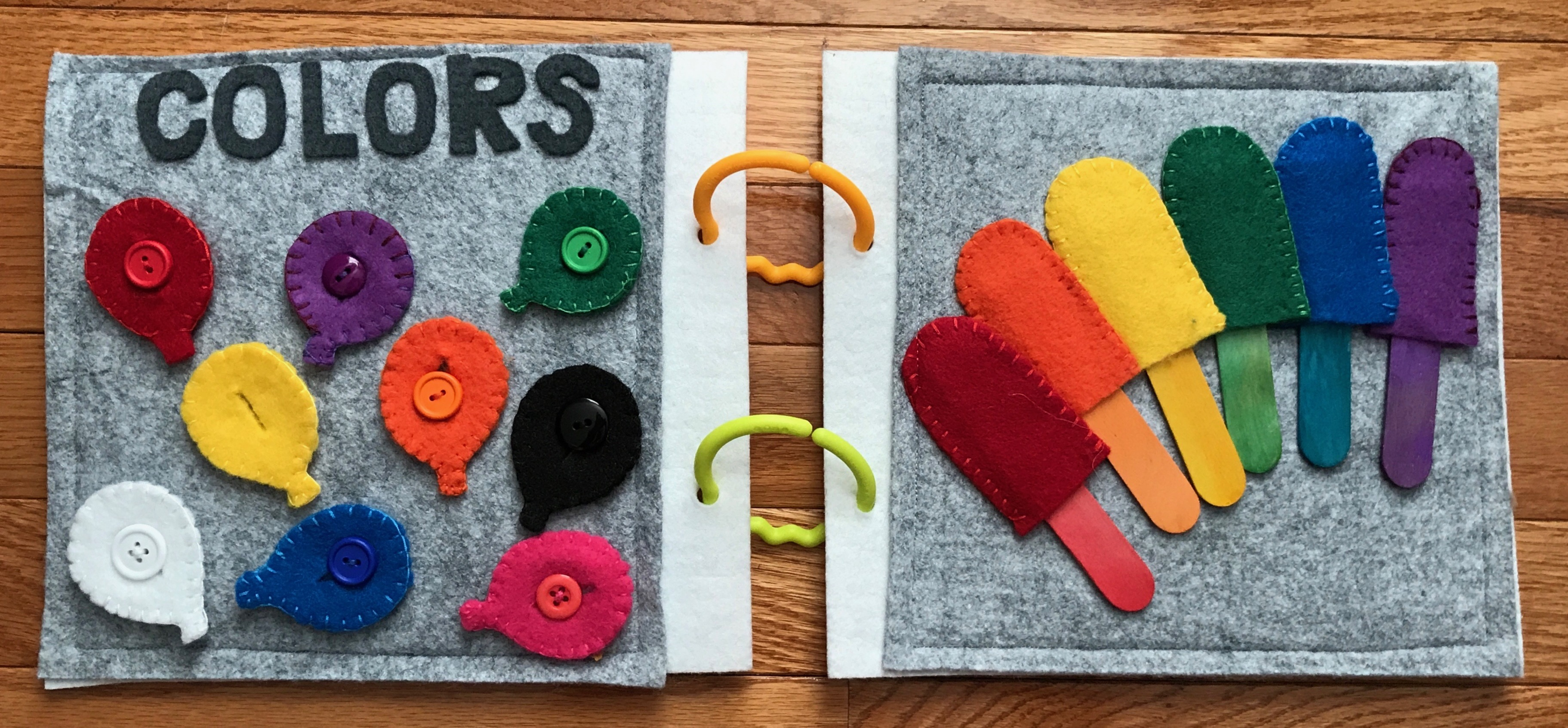 Toddler Quiet Book Ideas #toddleractivities #QuietBook #QuietBookIdeas #FunWithFelt