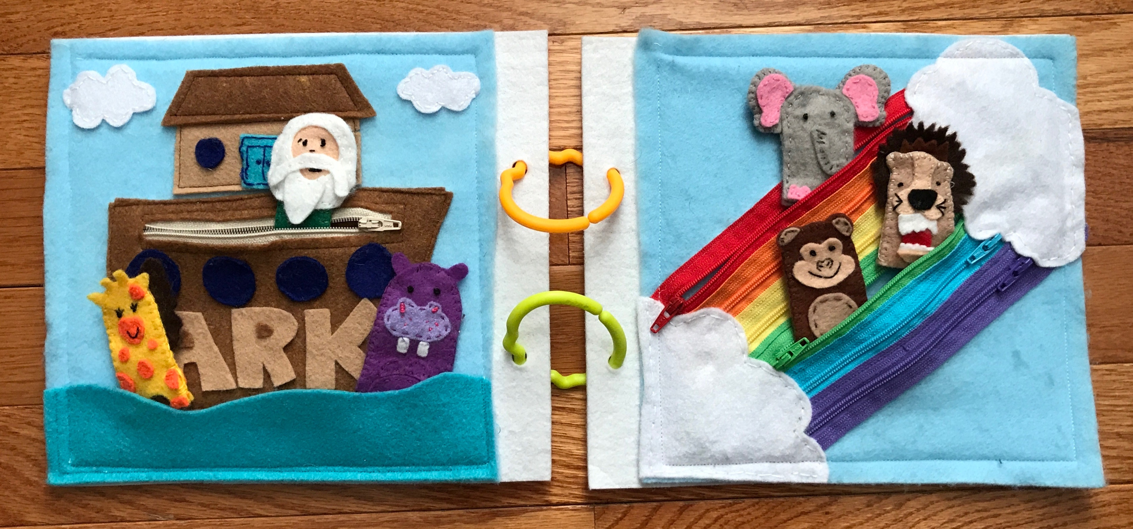 Toddler Quiet Book Ideas #toddleractivities #QuietBook #QuietBookIdeas #FunWithFelt #NoahsArk