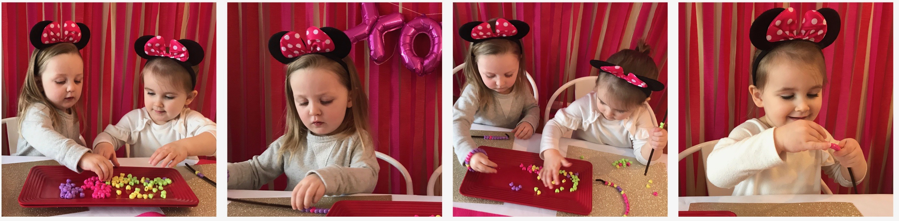 Minnie Mouse Valentine's Day Party Ideas via 11cupcakes #MinnieMouse #MinnieValentine #Valentinesparty
